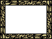 Frame with Filigree Border — Stock Photo