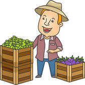 Farmer Fresh Produce — Stock Photo