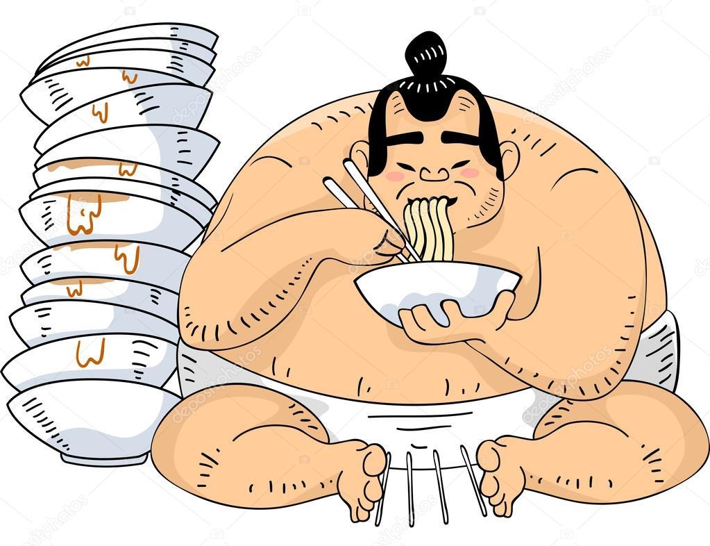 相扑摔跤手拉面 — 图库照片08lenmdp#46209181