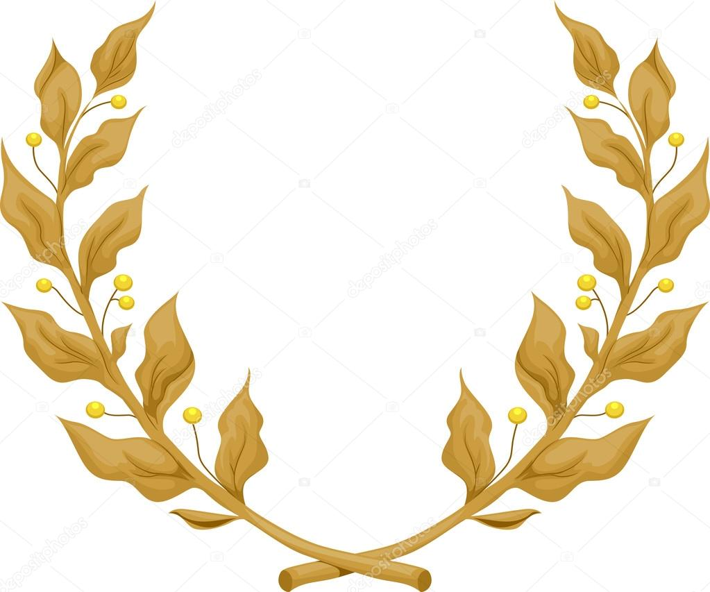 gold leaves clip art