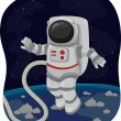 Постер, плакат: Astronaut Space Walk