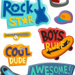 Постер, плакат: Stickers for Boys