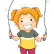 Jumping Rope Girl — Stock Photo #46211077