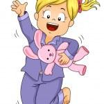 Pajama Jump Girl — Stock Photo #46211089