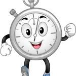 Analog Stopwatch Mascot — Stock Photo #46211313