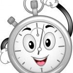 Analog Stopwatch Mascot — Stock Photo #46211315