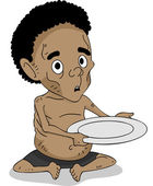 Malnourished African Kid — Stock Photo