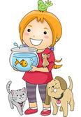Pet Lover Girl — Stock Photo