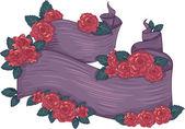 Floral Ribbon — Stock Photo