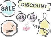 Grungy Sales Illustration — Stock Photo