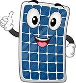 Solar Panel Mascot — 图库照片