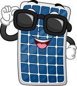 Mascota del panel solar — Foto de Stock