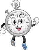 Analog Stopwatch Mascot — Stockfoto