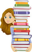 Female Bookworm — Stock Photo