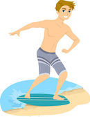 Skimboarding Guy — Foto Stock