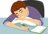Guy Dozing Off to Sleep — Stock Photo