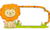 Safari Label Lion — Stock Photo