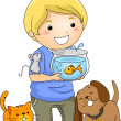 Pet Lover Boy — Stock Photo #48929835