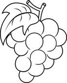 Grape Coloring Page — Stock Photo