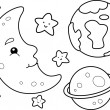Outer Space Coloring Page — Stock Photo #48930131
