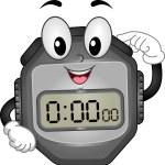 Digital Stopwatch Mascot — Stock Photo #48931161