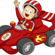 Car Racing Boy — Stock Photo #48931379