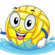 Water Polo Ball Mascot — Stock Photo #48931933