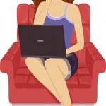Laptop Girl — Stock Photo #48932479