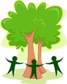 Green People Icon — Stock Photo