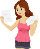 College Letter Girl — Stock Photo