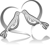 Dove Couple Icon — Stockfoto