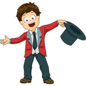 Stage Welcome Boy — Stock Photo