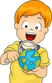 Magnifying Glass Globe — Stock Photo