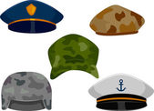 Military Hats — Stock Photo