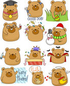 Cute Bear Set — Stock Photo
