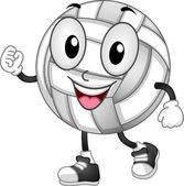 Volleyball Mascot — Stock Photo