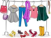 Female Clothing Rack — Stock Photo
