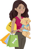 Pet Supplies Shopping — Stock Photo