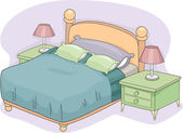 Double Bed — Stock Photo
