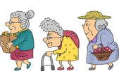 Walking Senior Women — Stock Photo