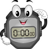 Digital Stopwatch Mascot — Stock Photo
