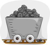 Mine Trolley Full of Coal — Stock Photo