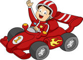 Car Racing Boy — Stock Photo