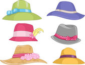 Ladies Hats — Stock Photo