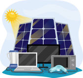 Appliances Using Solar Energy — Stock Photo