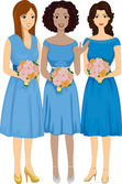 Diverse Bridesmaids — Stock Photo