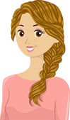 Braided Girl — Stockfoto