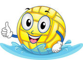 Water Polo Ball Mascot — Stockfoto