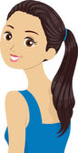 Ponytail Girl — Stock Photo