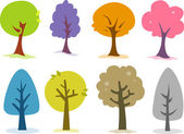 Tree Design Elements — Stock Photo